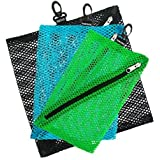 Vaultz Console Mesh Storage Bags, Assorted Colors and Sizes, 3 Pack (VZ03704)