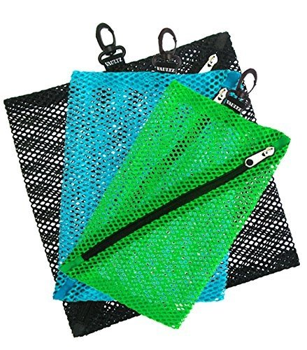 Vaultz Console Mesh Storage Bags, Assorted Colors and Sizes, 3 Pack (VZ03704) ()