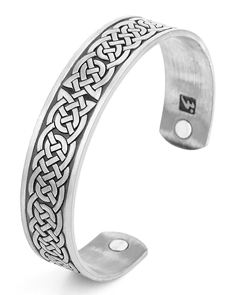 Assistenza sanitaria magnetica bracciale classico nodo celtico terapia magnetica regolabile del polsino Qiju