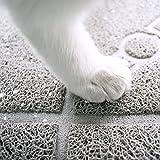 """Cat Litter Mat - Pet Litter Mat - Kitty litter mat - BPA-free - Waterproof - Non-slip - Cute - Grey, Size 36"""" X 24"""""""