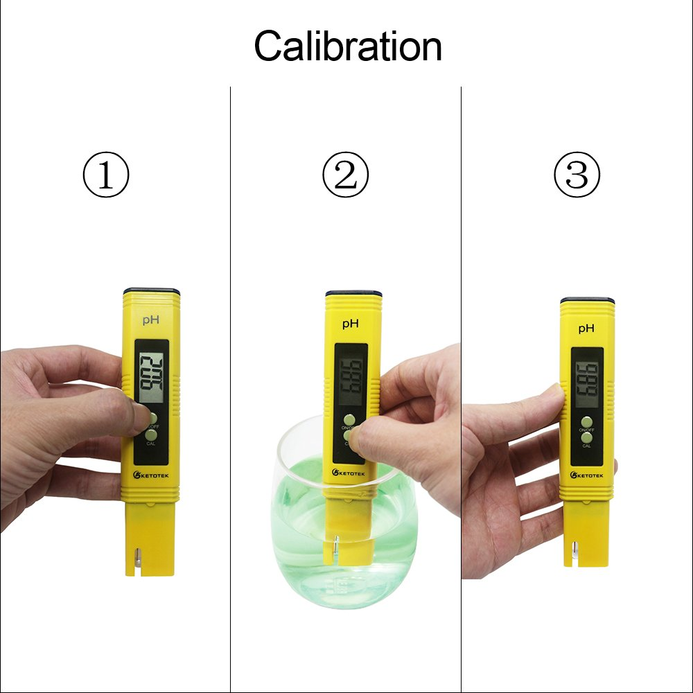 KETOTEK Water Quality Test Meter, PH Meter TDS Meter 2 in 1 Kit with 0-16.00PH and 0-9990 ppm Measure Range for Hydroponics, Aquariums, Drinking Water