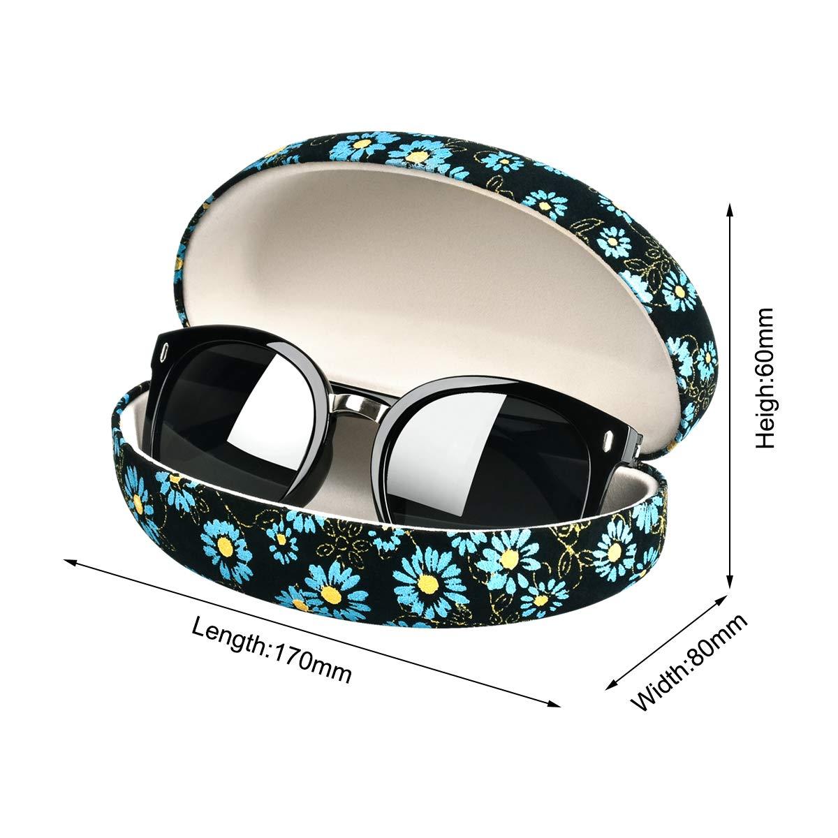 con panno Custodia per occhiali da sole extra large leggera con supporto protettivo per occhiali di grandi dimensioni rigida
