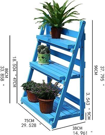 LIXMZZWJ Estante de Plantas de Madera, Estante para Flores Estante para macetas Soportes para Plantas Soporte de jardín Escalera para estantes de exhibición para el hogar Exterior/Interior 3 Niveles: Amazon.es: Hogar