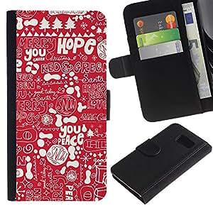 All Phone Most Case / Oferta Especial Cáscara Funda de cuero Monedero Cubierta de proteccion Caso / Wallet Case for Sony Xperia Z3 Compact // esperanza roja texto blanco la paz de Navidad