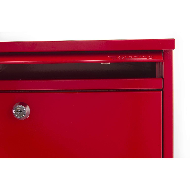 Rosso Sterling MB02G Cassetta della posta elegante colore