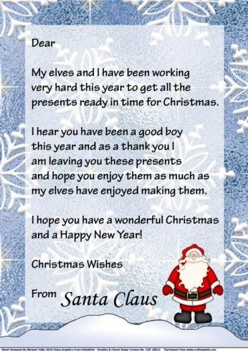 Christmas letter from santa boy by michael tullio amazon christmas letter from santa boy by michael tullio spiritdancerdesigns Images