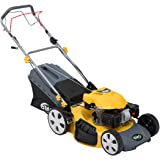 "BMC Sprinter 530 21"" 5.32HP 173cc 4in1 Self Propelled 4 Stroke Petrol Self Propelled Lawn Mower with Single Lever Height Adjustment, 65 Litre Hard Top Grass Collector, Drive Speed Control & Large 10"" Rear Drive Wheels - 2 Years Warranty"