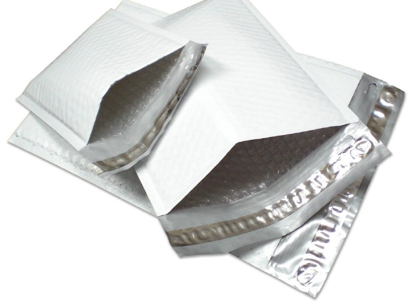 YensPackage 50 pcs #000 4 X 8 Poly Bubble Padded Envelopes Mailers 50PM#000