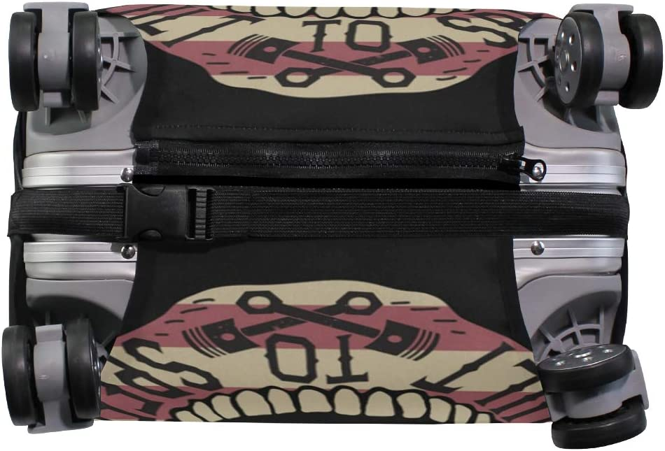 FANTAZIO Alphabet And Pattern Skull Print Suitcase Protective Cover Luggage Cover