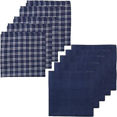 6 pieces 38cm x 38cm white color striped 100/% cotton handkerchiefs B 12 pieces
