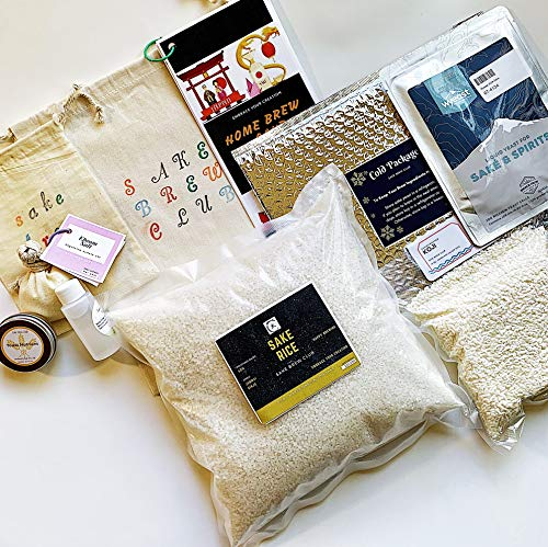Sake Kit from Sake Brew Club to make 1 Gallon Authentic and Premium Japanese Sake with Effortless Instructions and All the Ingredients including Handmade Koji, Highly Polished Rice, Sake Yeast