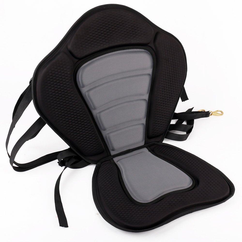 Leadpro Deluxe Kayak Seat Boat Seat Fishing Seat Detachable Paddle-Board Seat (Black/Grey)