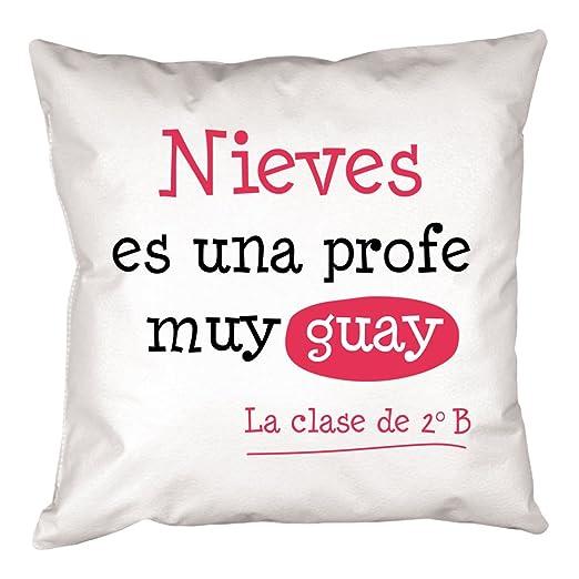 Calledelregalo Regalo Personalizable para Profesores: cojín ...