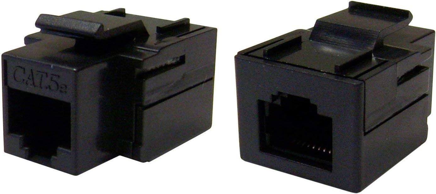RJ45 Female Black Pack of 10 Konnekta Cable Cat5e Keystone Inline Coupler