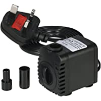 Decdeal Submersible Pump 600L/H 8W Submersible Water Pump for Aquarium Tabletop Fountains Pond Water Gardens and…