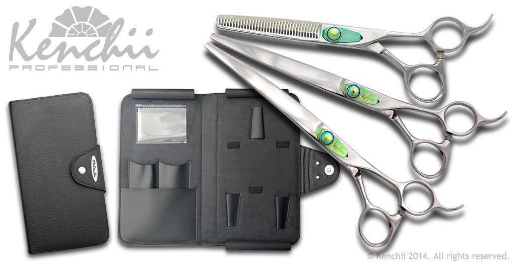 Kenchii Grooming - T-Series 8.0 Shear Set-Straight, Curved, Thinner, & Case