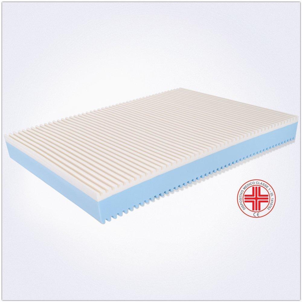 MiaSuite Top H25 120X200 Memory Bianco A Una A Una Piazza e Mezza Aloe Vera