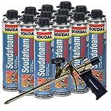 Soudal PRO Fireblock Foam Sealant 24 oz can (Sealed Case of 12) + Professional Foam Gun