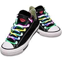 NEO+ LED Shoe Laces IN Different Colors : Green, Red, Yellow, Orange, Blue, Pink, Yellow/ Green, Blue/Pink, Green/Pink, Multicolor