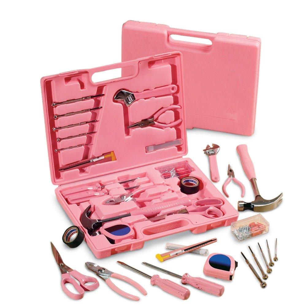 Ladies' Pink Hardware SteelTec Tool Kit - 105 Pc, Pink