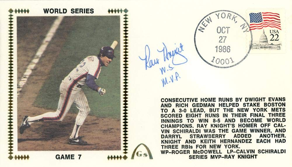 """Ray Knight Autographed First Day Cover New York Mets 1986 World Series""""WS MVP"""" Beckett BAS #E48868 Beckett Authentication"""
