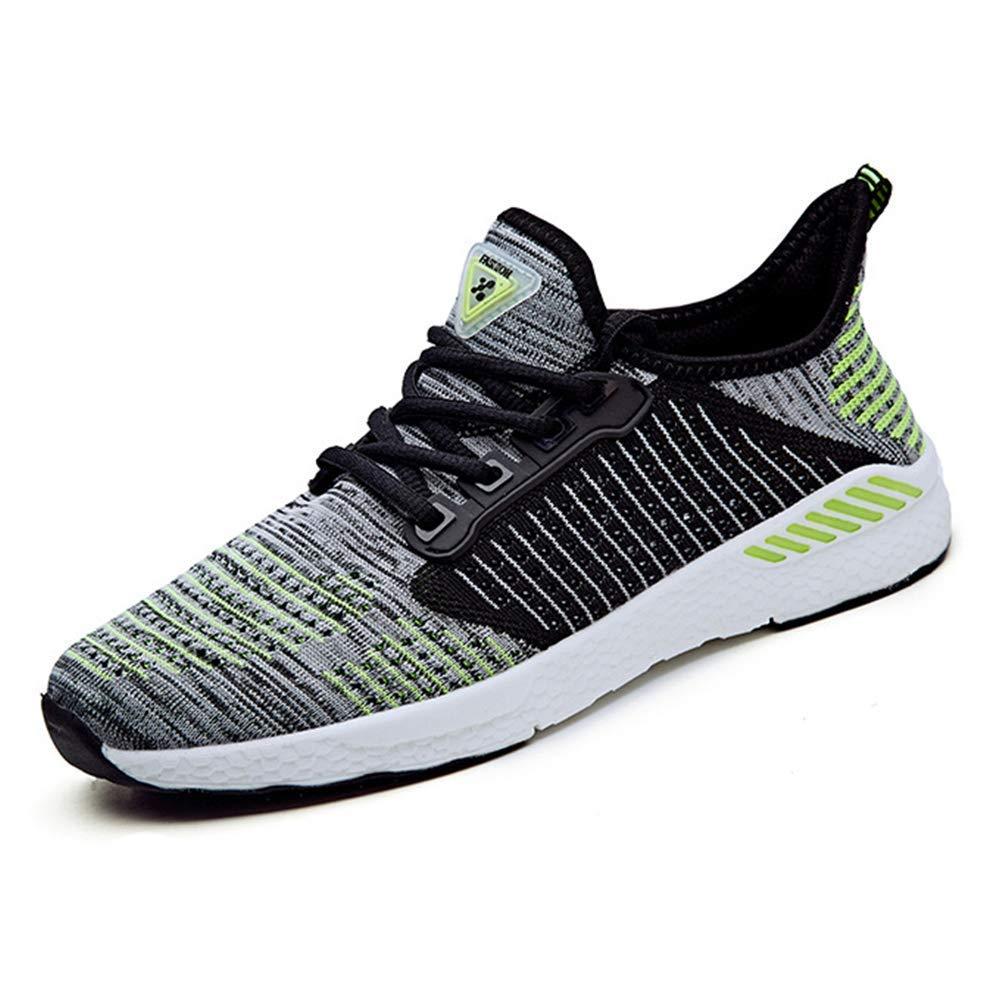 ZHRUI Mesh Laufschuhe Laufschuhe Laufschuhe für Herren Damen Turnschuhe Outdoor Atmungsaktiv Bequeme Athletische Flache Schuhe (Farbe   Grün, Größe   7=41 EU) 8ed459