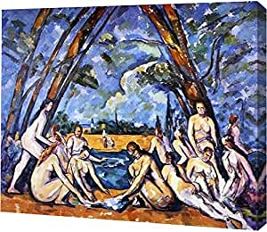"""The Large Bathers 3 by Paul Cezanne - 12"""" x 15"""" Gallery Wrapped Giclee Canvas Art Print - Ready to Hang"""