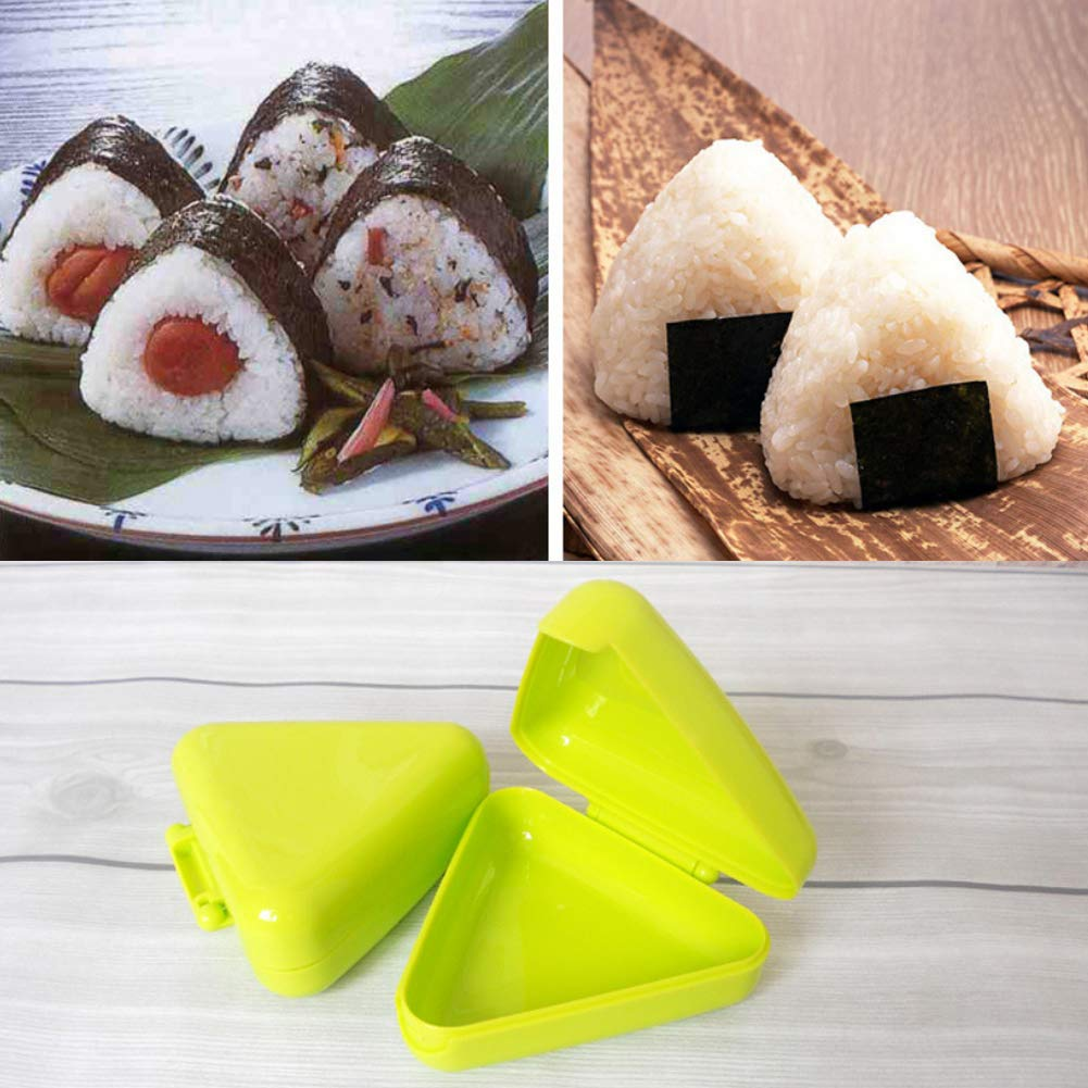 yanQxIzbiu Silicone Mold,DIY Triangle Sushi Mold for Nori Rice Ball Box Press Mold Onigiri Maker Kitchen Tool Random Color