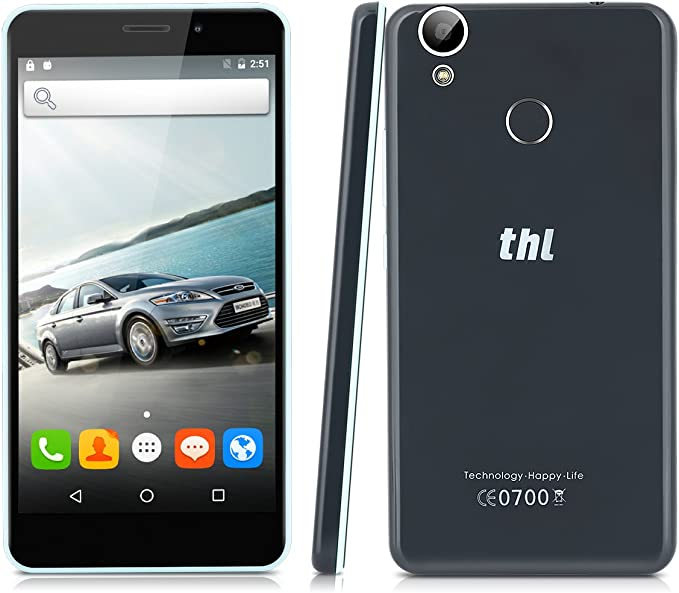 Thl T9 Pro - 4G Smartphone Libre Android 6.0 (Pantalla 5.5 Ips, Mt6737 Quad Core 1.3 Ghz, 2Gram, 16Grom, Dual Sim, Huella Dactilar Smart Wake) (Negro): Amazon.es: Electrónica
