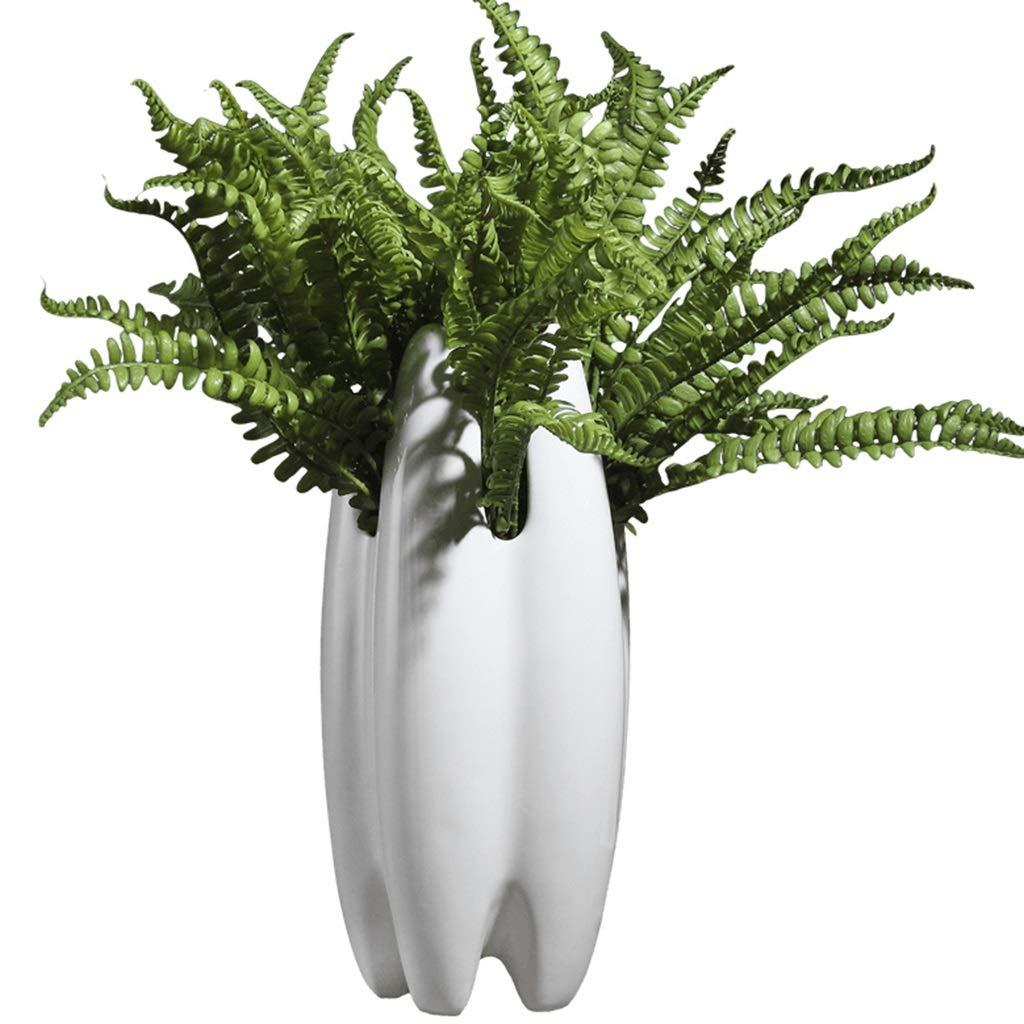 花瓶コンテナセラミックジュエリー靴の装飾品装飾テレビキャビネットポーチキッチン仕切り寝室ルームホームホームアクセサリークリエイティブ (Color : WHITE, Size : 30*15*15CM) B07RT6KFKZ WHITE 30*15*15CM