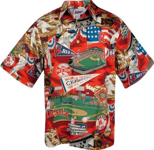 more photos e4ec9 c5c2e Amazon.com: Boston Red Sox Hawaiian Shirt - Medium: Clothing