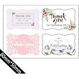amazon com wedding thank you stickers favor labels bridal shower