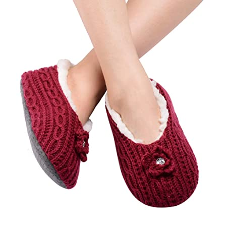 ALLBEST Womens Thick & Warm Slipper Socks with Grippers - House Socks