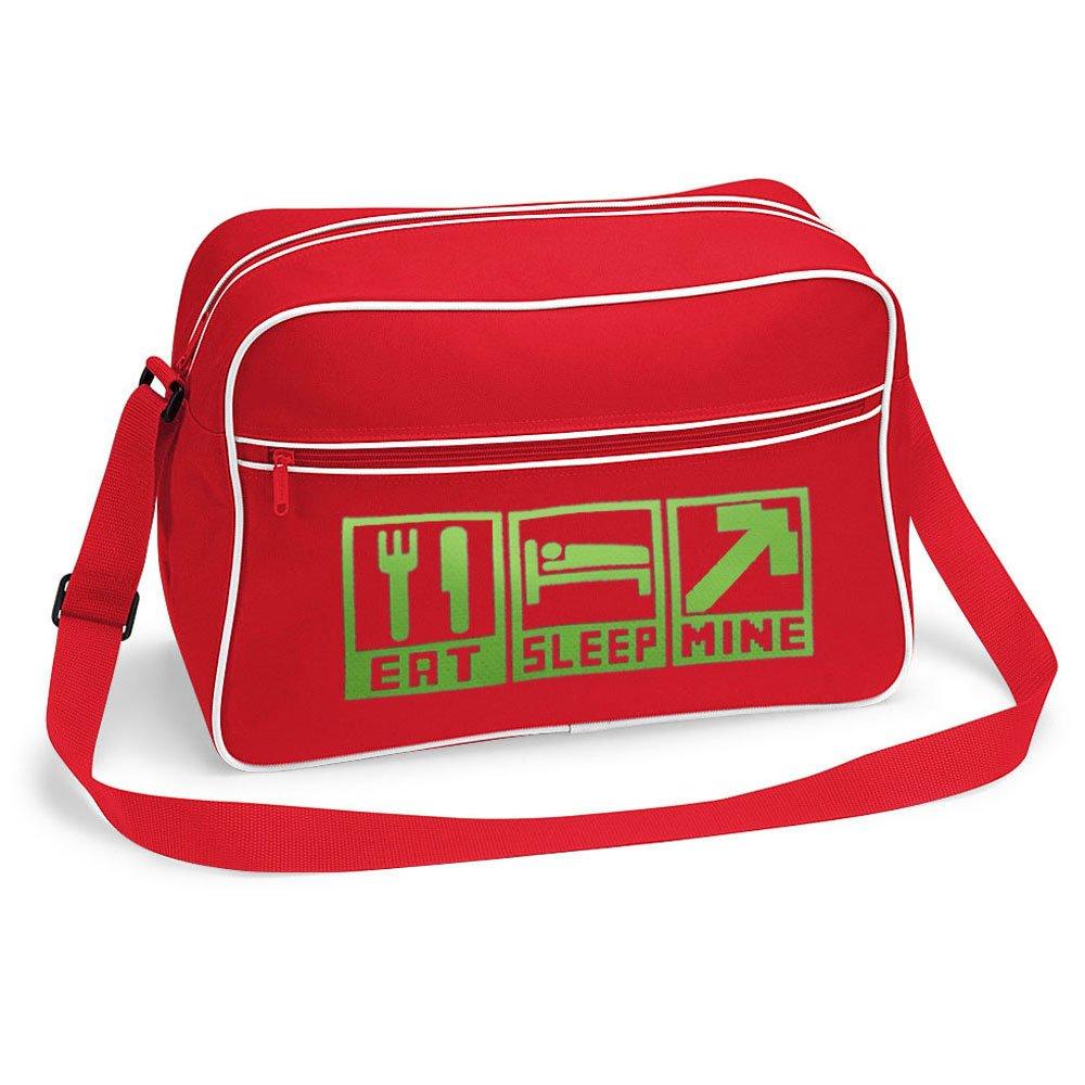 Gamer Shoulder School Bag Eat Sleep Mine (Black)