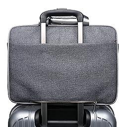 CoolBell(TM)15.6 Inch Nylon Laptop Bag Shoulder Bag With Strap Multicompartment Messenger Hand Bag Tablet Briefcase For iPad Pro/laptop/Macbook/Ultrabook/Men/Women/College,Grey