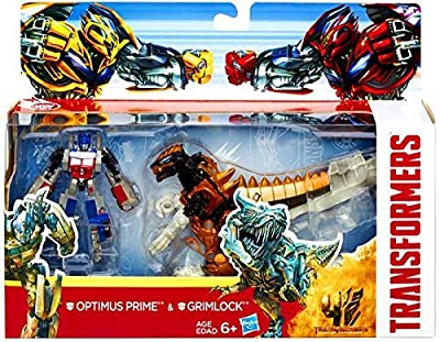 Transformers 4 Age of Extinction Exclusive Action Figure 2-Pack Optimus Prime & Grimlock