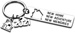 2021 New Home Housewarming Key Chain Gift for Men Women Realtor Closing Gift for New Homeowners Christmas New Year Gift to Families Friends New Neighbor New Home Housewarming Party Gift for Him Her