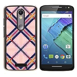Caucho caso de Shell duro de la cubierta de accesorios de protección BY RAYDREAMMM - Motorola MOTO X3 3rd - Triángulo Plaza colorido Arte