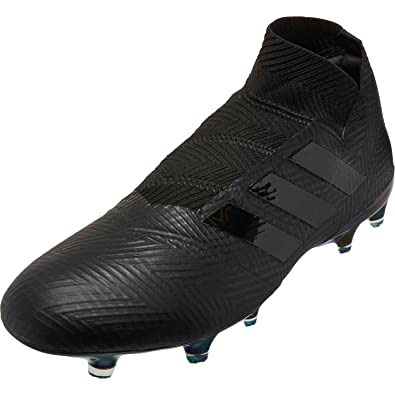 sports shoes 4d6cd 2a736 adidas Mens Nemeziz 18+ FG Soccer Cleats (BlackBlackWhite) (