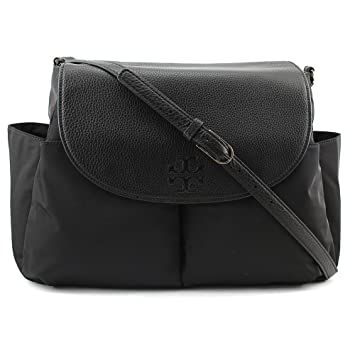 d0ec79008bca Amazon.com   Tory Burch Thea Nylon Baby Bag Women Black Messenger NWT   Baby