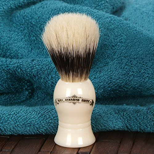 Colonel Ichabod Conk Standard Pure Badger Shave Brush with Cream Handle ()