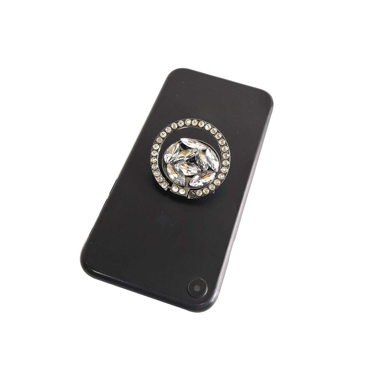 Purple Glitter Bling Bling Phone Ring Holder,Sparkle Phone Ring Artificial Diamond Kickstand,Rhinestone Cell Phone Finger Ring Grip for Girls//Women for Almost All Phones//Pad