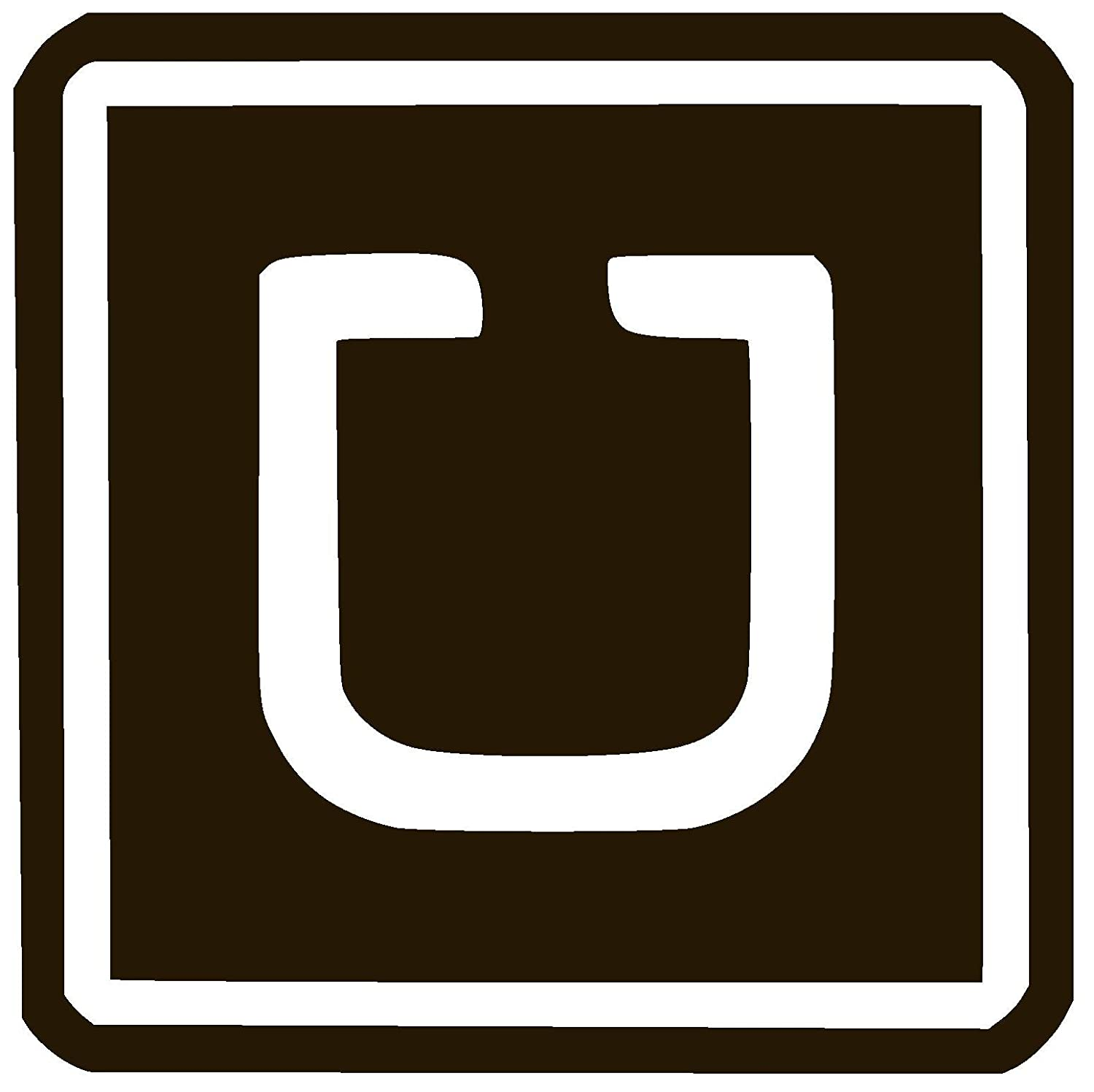 Amazon com uber logo vinyl sticker decal 6 x 6 black automotive