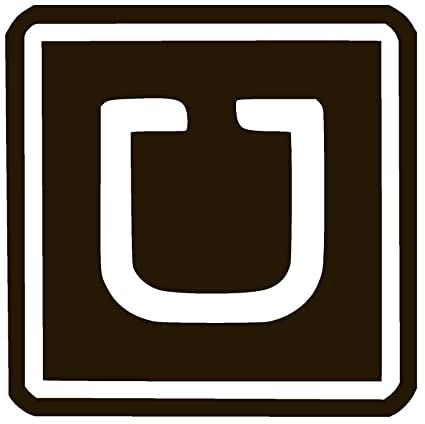 Uber logo vinyl sticker decal 6 x 6