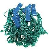 Clucker-Truss Elastic Gourmet Trussing Strings; 5 Inch Green; Bulk bag of 3,750 Ties (250 Bundles of 15/Bundle)