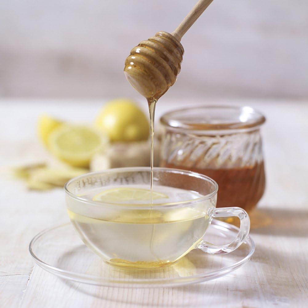 7.6cm//3 inch Mini Wood Honey Dipper Sticks Honey Coffee Milk Tea Dispense Drizzle PROKTH Wooden Honey Dippers 24 Pack Handle Mixing Stick Dipper Dessert Tools