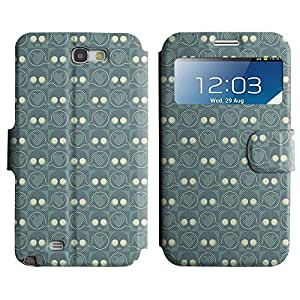 LEOCASE Amor cráneo Funda Carcasa Cuero Tapa Case Para Samsung Galaxy Note 2 N7100 No.1001808