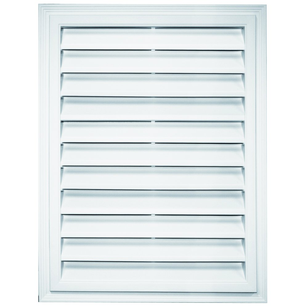 Builders Edge 120061824117 18'' x 24'' Rectangular Vent 117, Bright White