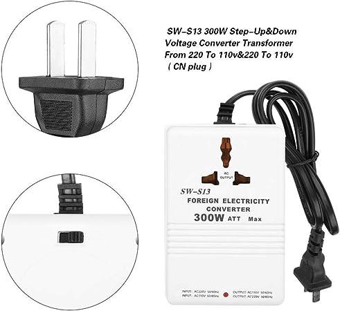 SW-S13 300W Convertisseur Abaisseur de Tension 220V /à 110V et 110V /à 220V Tension Convertisseur Bidirectionnel Convertisseur de tension dalimentation Fiche CN