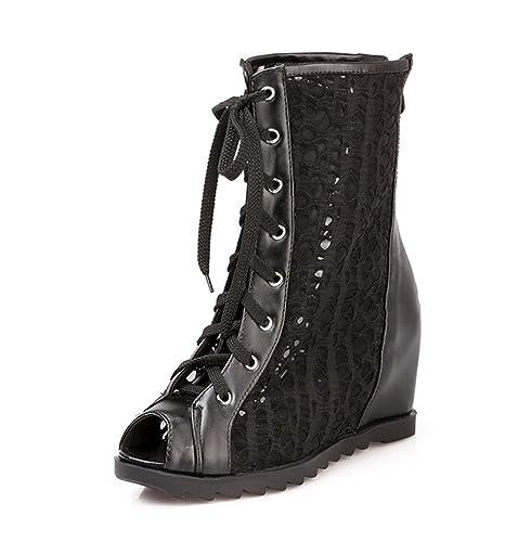 BalaMasa pour femme Bout ouvert à lacets Kitten-heels massif Sandales   Amazon.fr  Chaussures et Sacs c8f35a5721a5